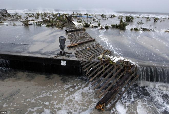صور آثار اعصار ساندي التدميرية في نيويورك